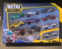 Metal Machines Diecast Car Toy (10 Pack) by ZURU (Styles May Vary)