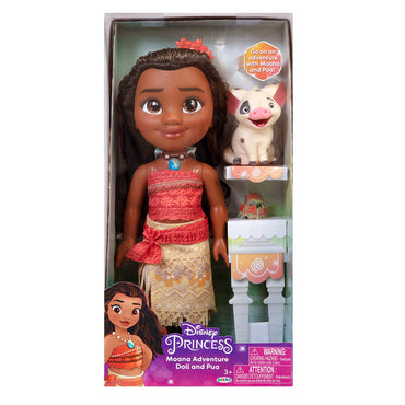 Disney Princess Doll Tea Time with Moana and Pua By Jakks Pacific