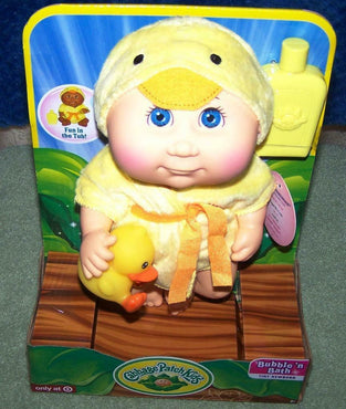 CABBAGE PATCH KIDS BUBBLE N BATH TINYNEWBORN*EVELYN HILDA*FUN IN THE TUB*W/DUCK