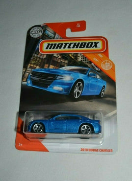MATCHBOX 2020 MBX CITY - 2018 DODGE CHARGER METAL FLAKE BLUE
