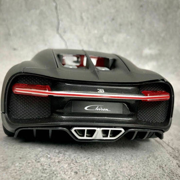 Maiso Bugatti Chiron - White and Black - Diecast Model Car MAISTO 1:18 Scale