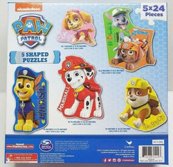 Paw Patrol 5 Shaped Puzzles (24 Pcs. Each)