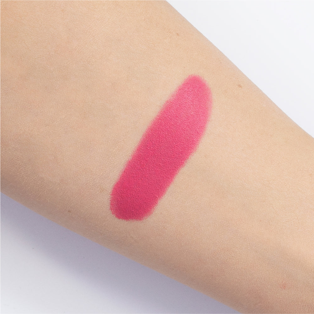 EO-09 Bright Blue Pink Lipstick Arm Swatch