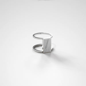 FORUM RING - BIANCO CARRARA - The Archismith