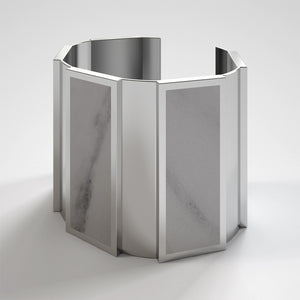 FORUM CUFF BRACELET - BIANCO CARRARA - The Archismith