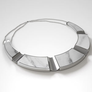 FORUM NECKLACE - BIANCO CARRARA - The Archismith
