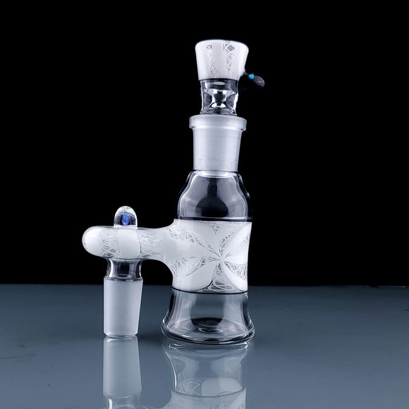 Latticino Ash Catcher Set by John Honey Glass