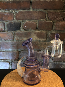 Purple Horn Mini Rig by Maritimer Glassworks