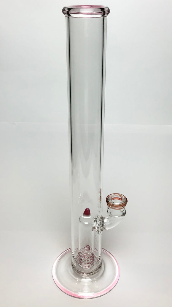 360 Grid Perc Straight Tube by Blazed Glass