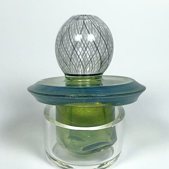 Reticello Spinner Cap by Korey Cotnam Glass