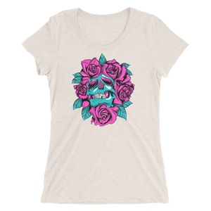 Surrounded By Roses women's short sleeve t-shirt