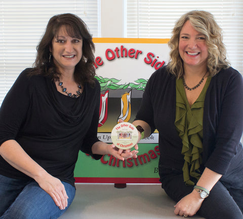 "Pictured are Amy Weis, voice talent for narration, and Beth Gully, author/illustrator of ""The Other Side of Christmas""."