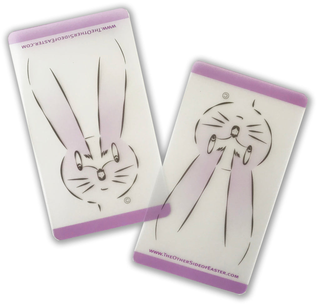 'Easter Bunny/ Risen' Wallet Cards (Set of 10)
