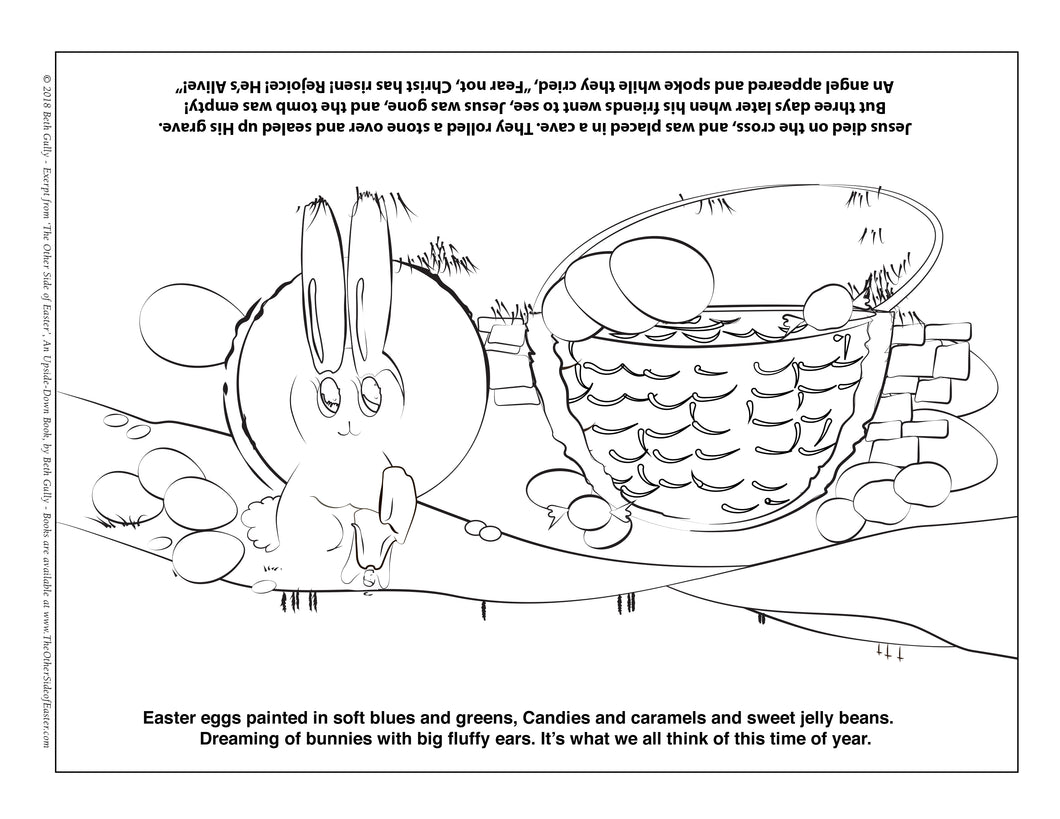 Coloring Sheet - Easter Basket - FREE