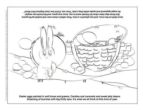 """ Easter Basket Coloring Page - FREE """