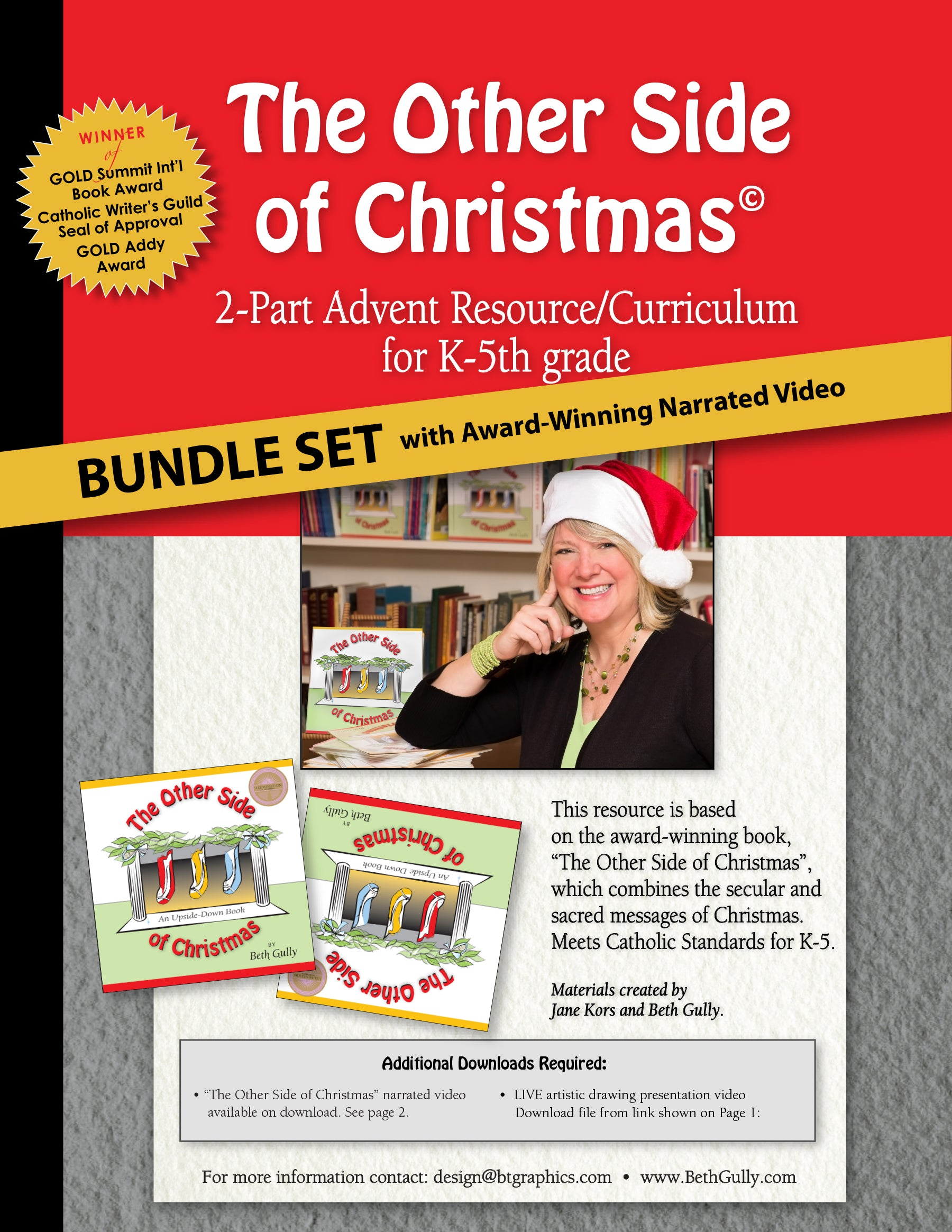 """Christmas Advent Resource"" Bundle Set with Narrated Video Link. 2 Plans - Classroom Teacher's Guide (Catholic/Christian) K-5"