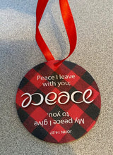 Load image into Gallery viewer, Peace Ambigram Ornament