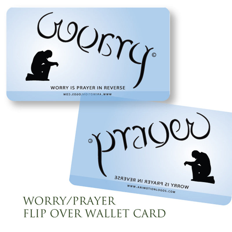 Worry Prayer Wallet Cards  (Set of 10) BLUE