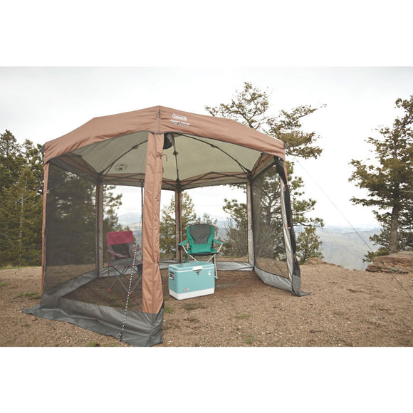 Coleman Shelter 12 x 10 Back Home Screened Canopy Sun Shelter w/Instant Setup [2000035990]