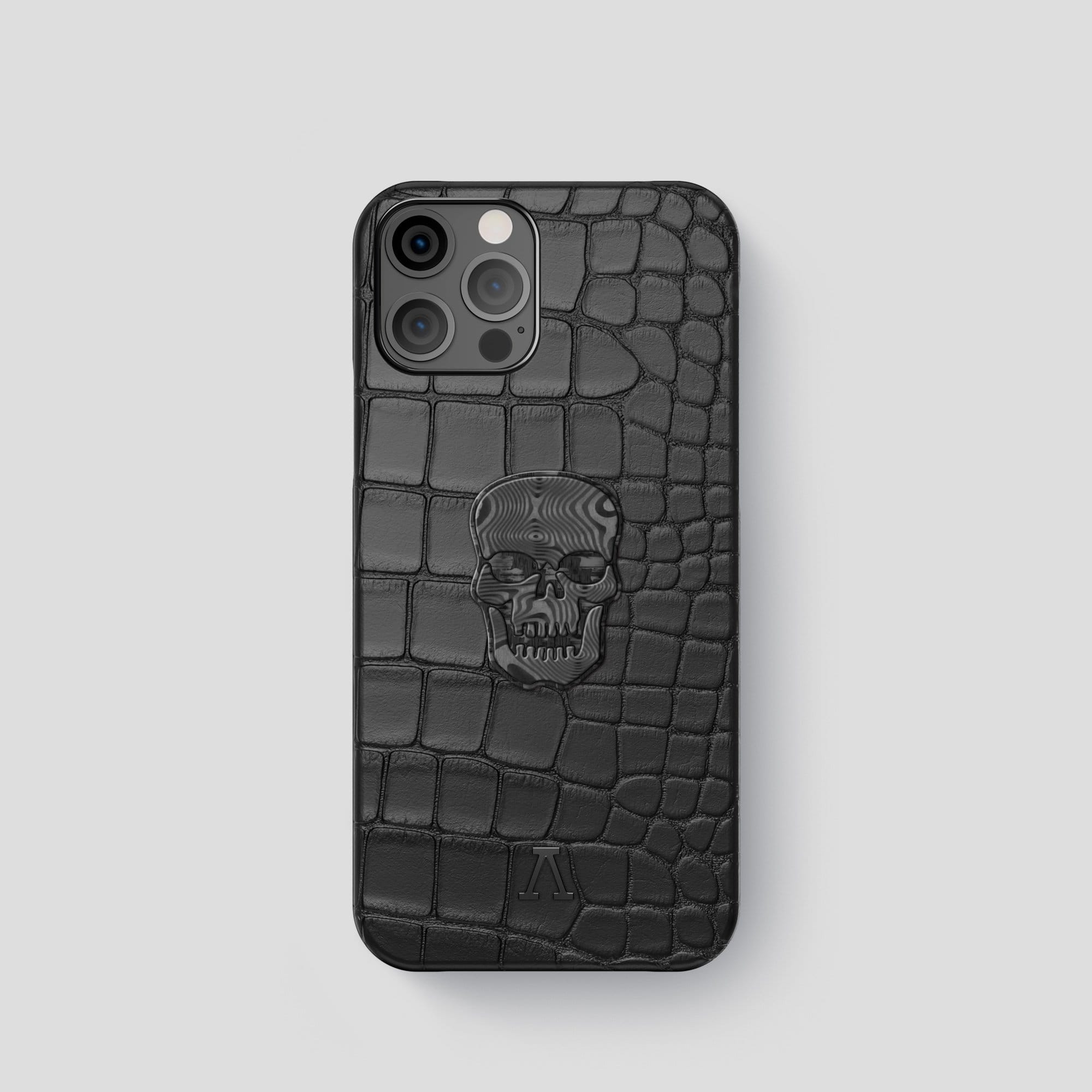 iPhone 12 Pro Classic Case Alligator with Carbon Skull