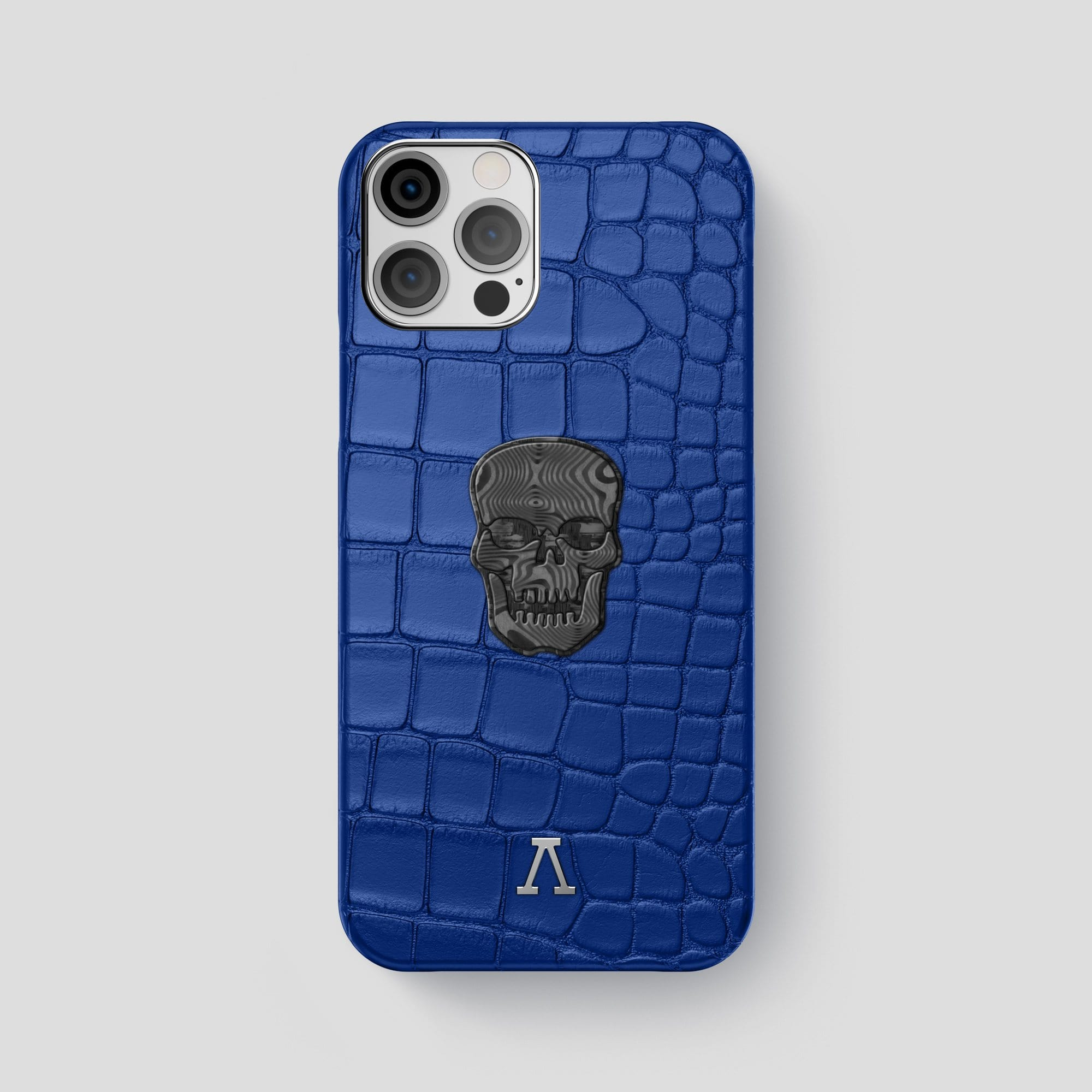 iPhone 12 Pro Max Classic Case Alligator with Carbon Skull