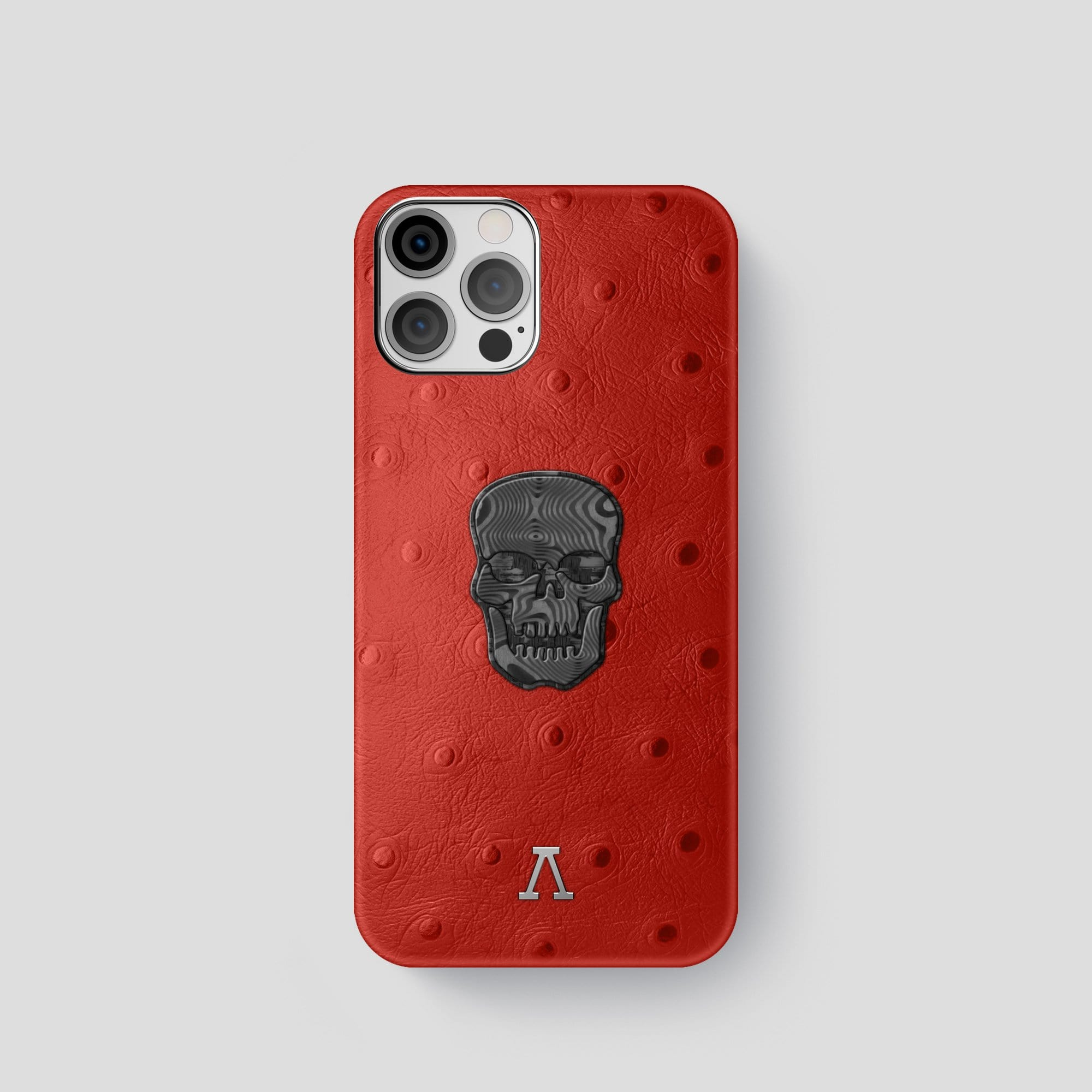 iPhone 12 Pro Classic Case Ostrich with Carbon Skull