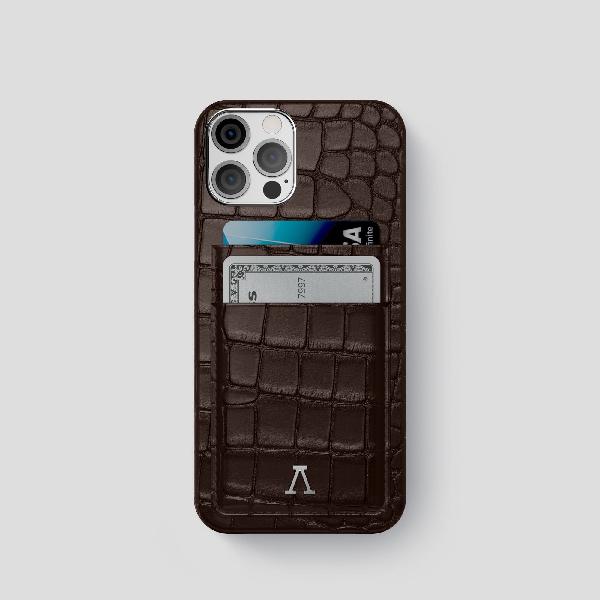 iPhone 12 Pro Double Card Case Alligator