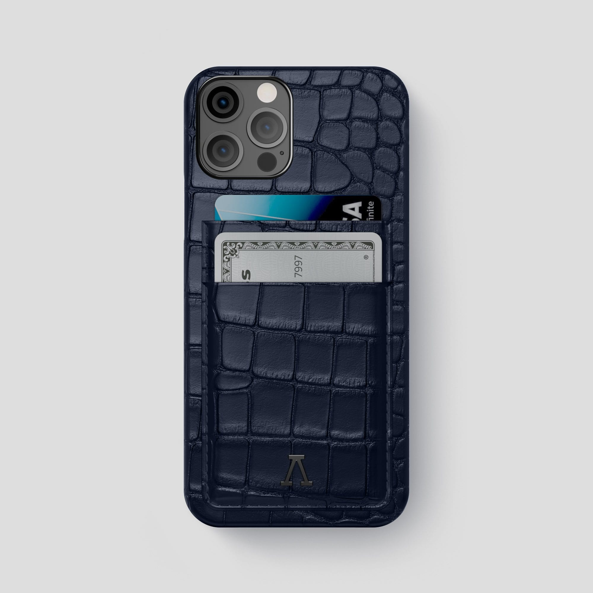 iPhone 12 Pro Max Double Card Case Alligator