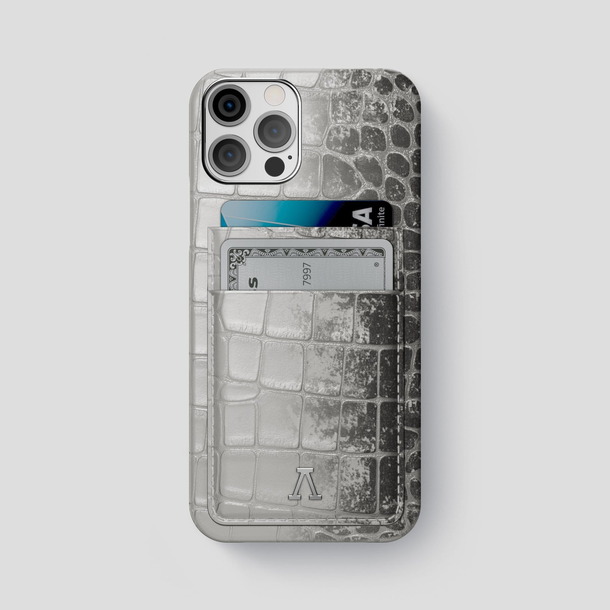 iPhone 12 Pro Max Double Card Case Himalayan Crocodile