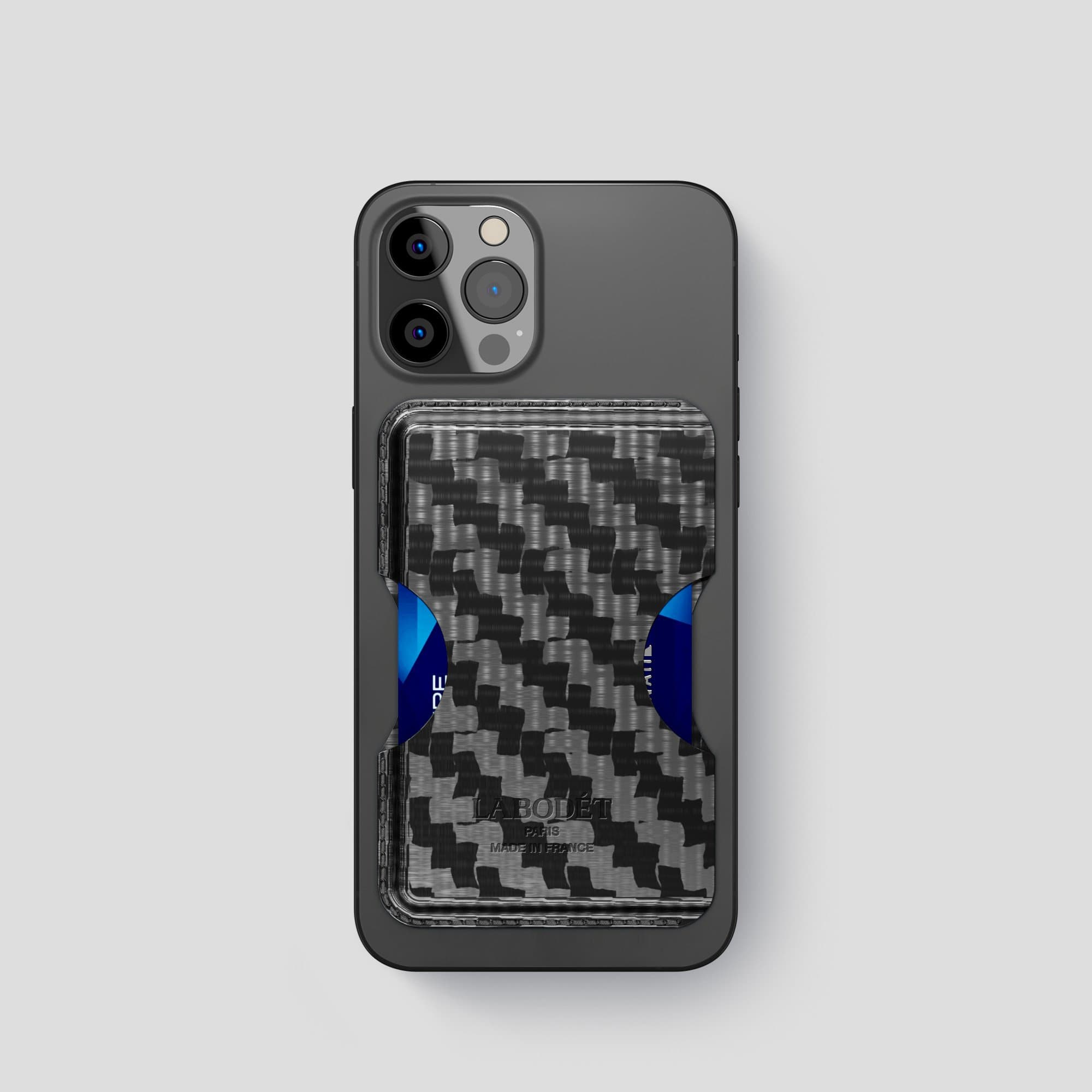 Carbon iPhone 12 Pro Wallet Case with -1 | Black