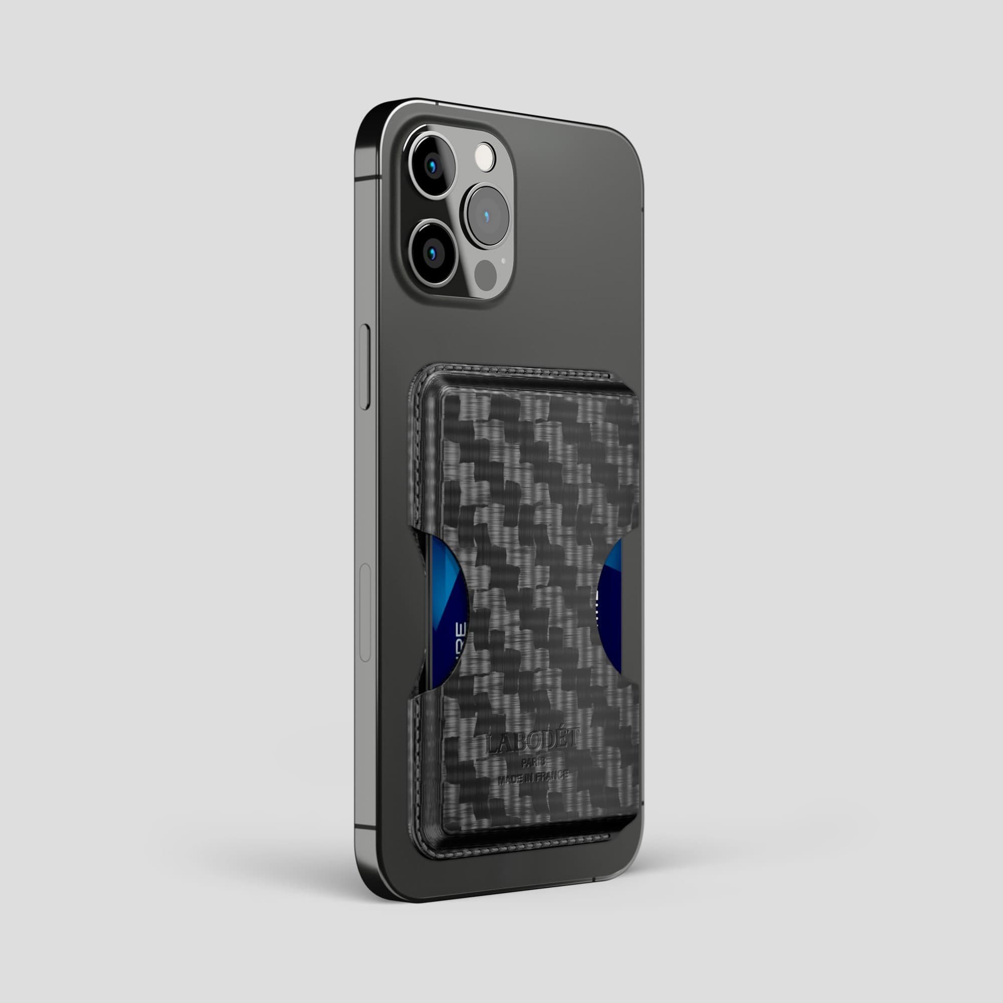 Carbon iPhone 12 Pro Max Wallet Case -2 | Black