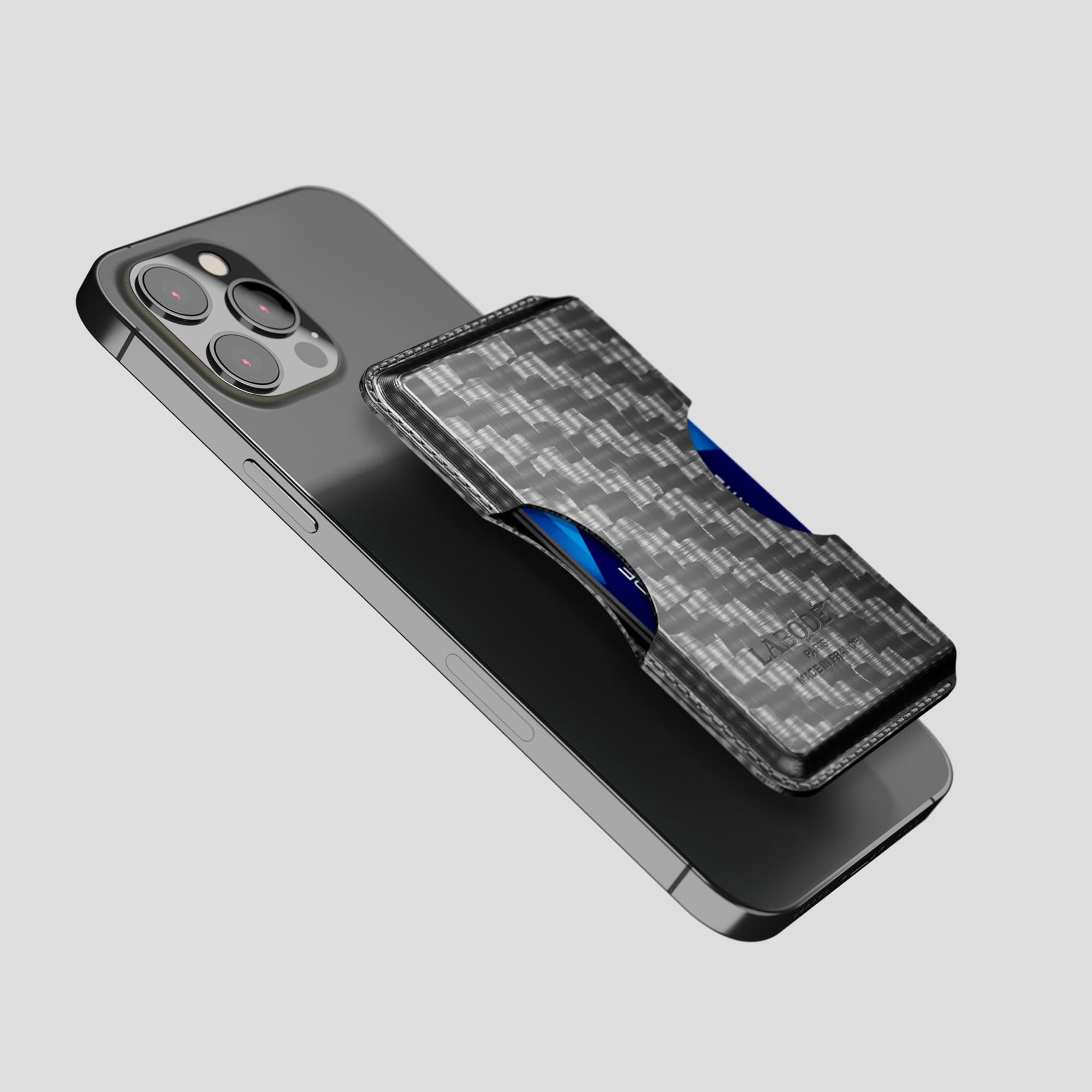 Carbon iPhone 12 Pro Max Wallet Case -4 | Black