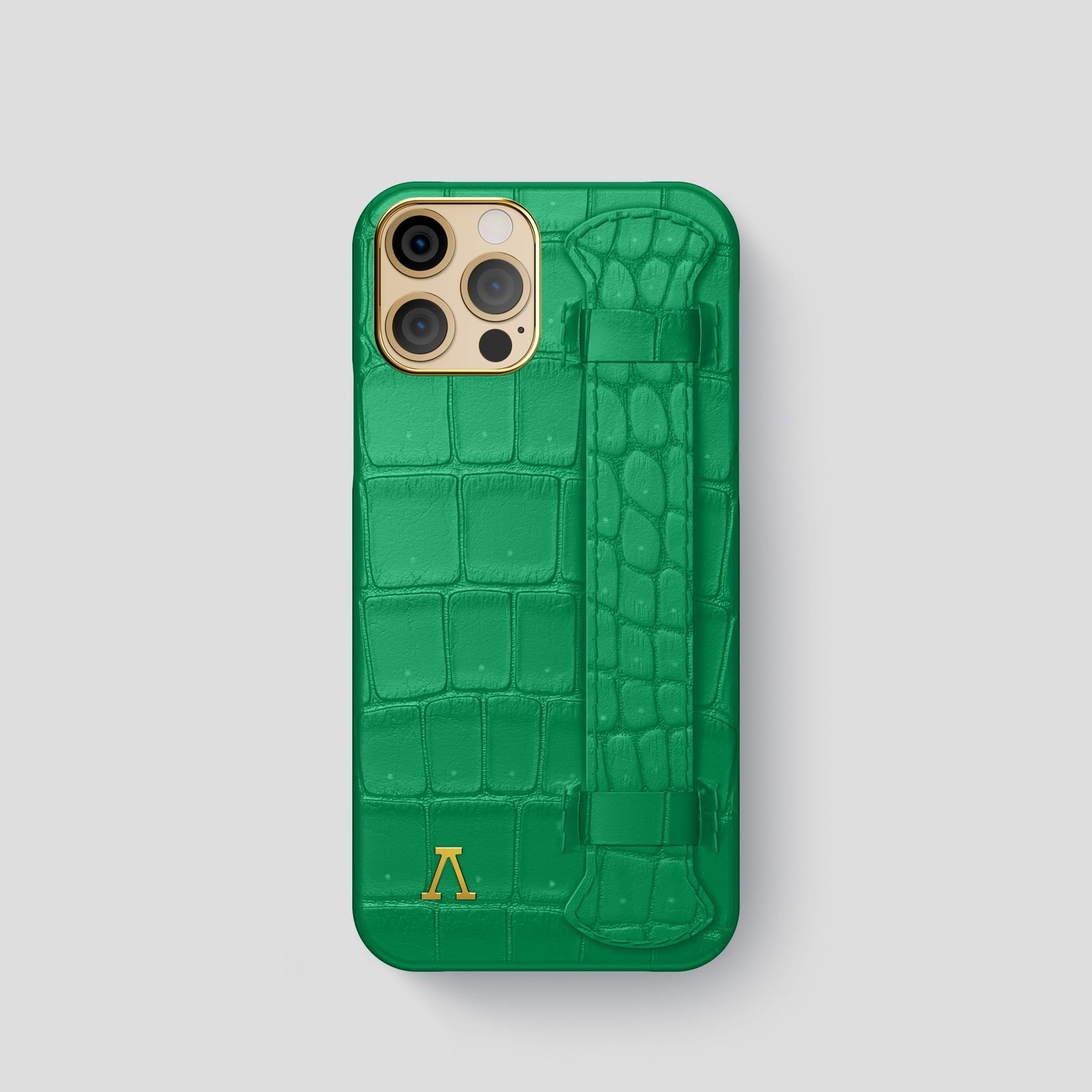 iPhone 12 Pro Strap Case Porosus Crocodile