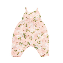 Load image into Gallery viewer, Pink Magnolia Tie Back Romper