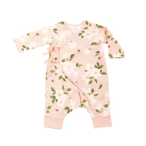 Magnolia Muslin Pink Wrap Coverall