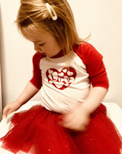 Load image into Gallery viewer, Toddler in red valentines top