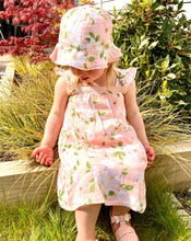 Load image into Gallery viewer, Pink Magnolia Muslin Sundress