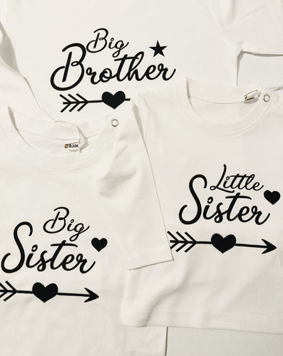 little sister and big sister and  brother tops