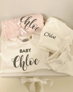 personalised gift set  printed with Chloe
