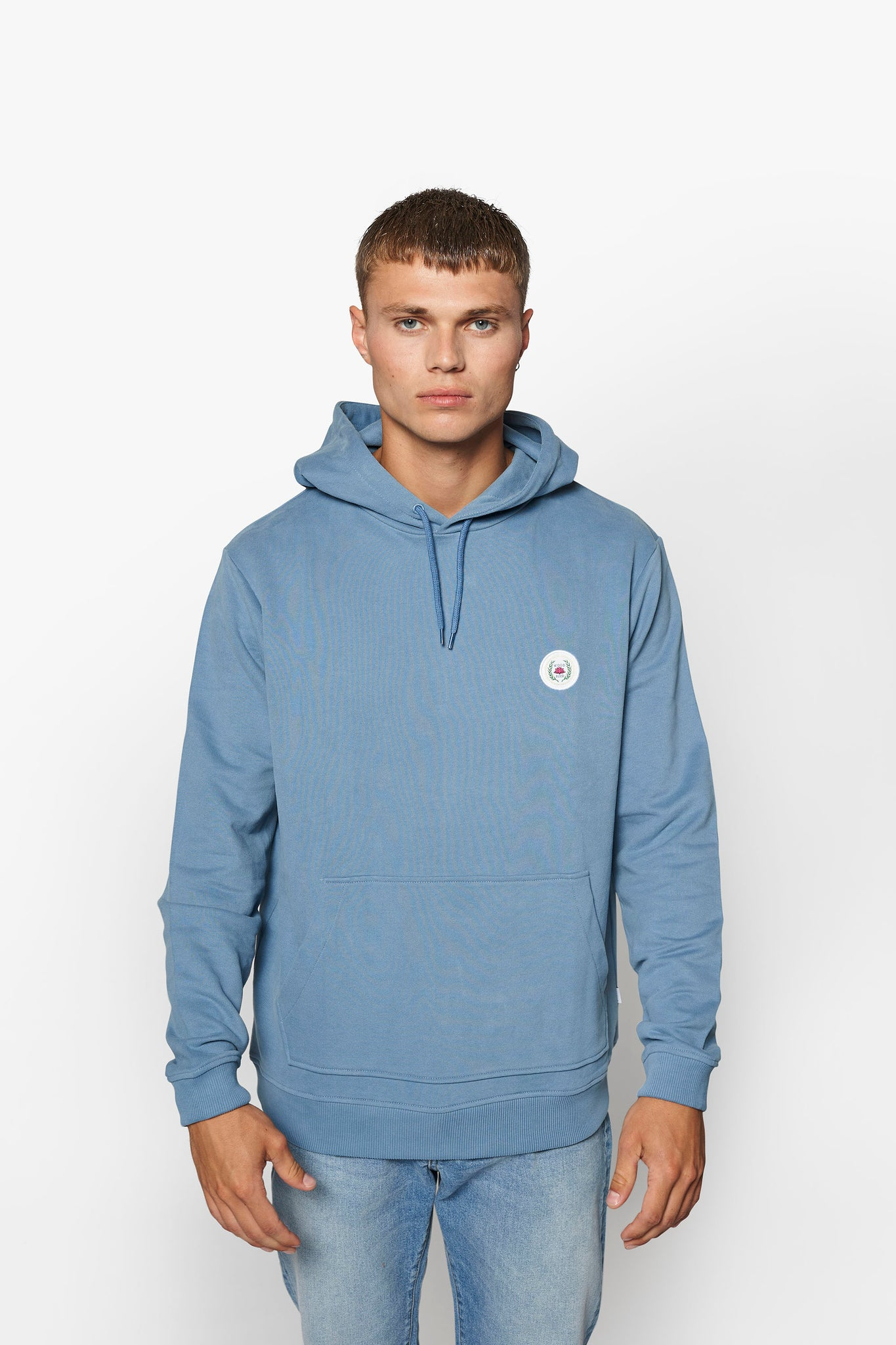 Our Shaxy Patch Hood - Dusty Blue