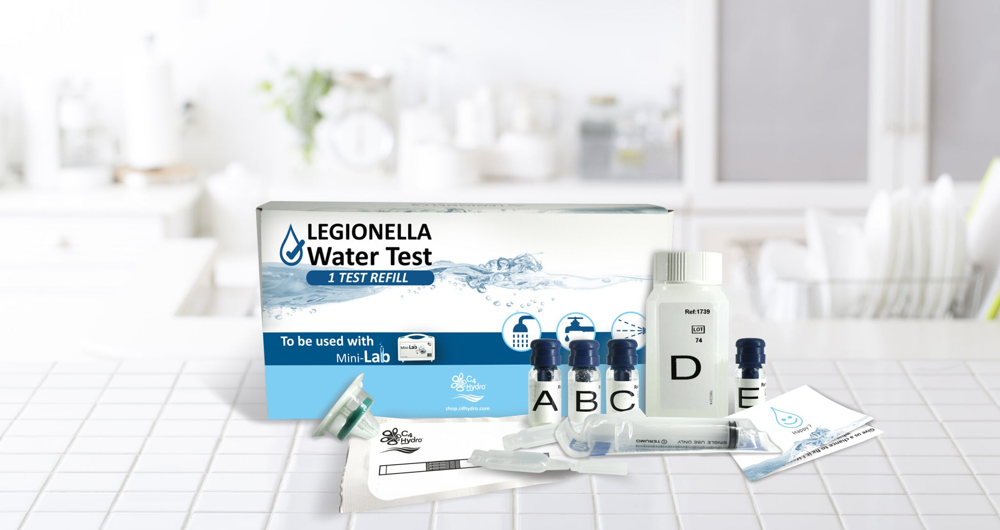 Legionella Starter Pack x3 Refill Home Water Test Kit