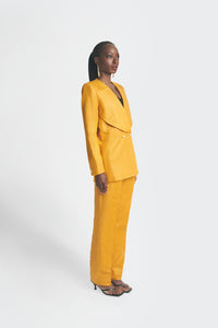 Yellow oversized womens pantsuit by Emmy Kasbit