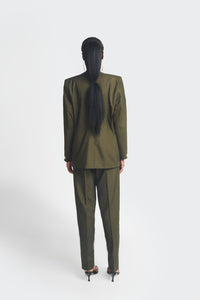 Ex-Lapel Suit - Green