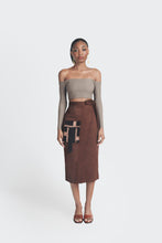 Load image into Gallery viewer, high waisted midi skirt by emmy kasbit
