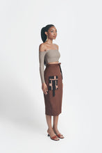 Load image into Gallery viewer, Statement Skirt - Brown w/ Black