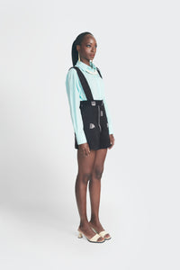Akwete Shorts - Black&White