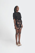 Load image into Gallery viewer, Akwete Shorts - Black&Peach