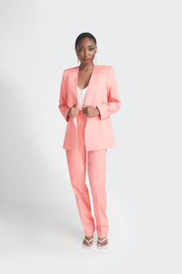 Peach oversized womens pantsuit by Emmy Kasbit