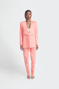Peach oversized womens suit by Emmy Kasbit