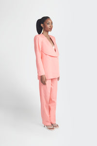 Ex-Lapel Suit - Peach